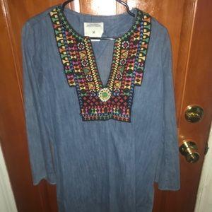 Zara tribal tunic/top